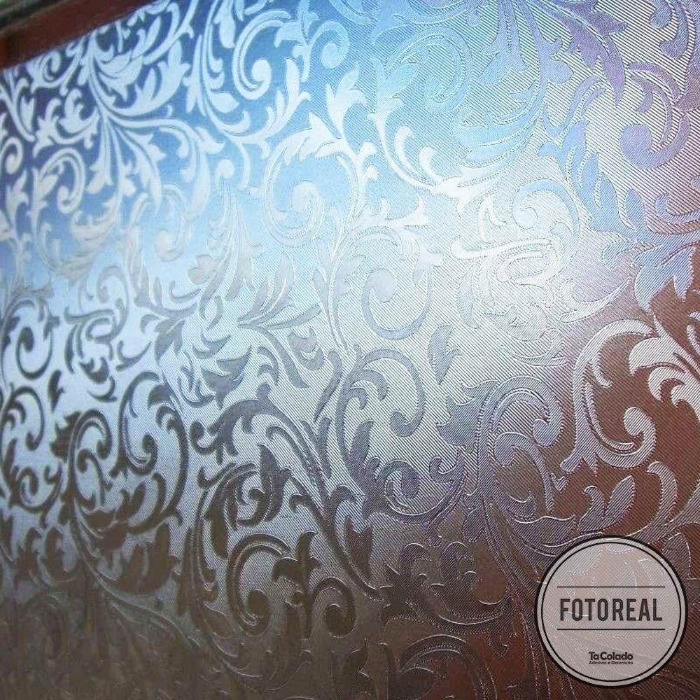 Adesivo Para Vidro Box Banheiro Jateado Condessa 1,22m Prova D