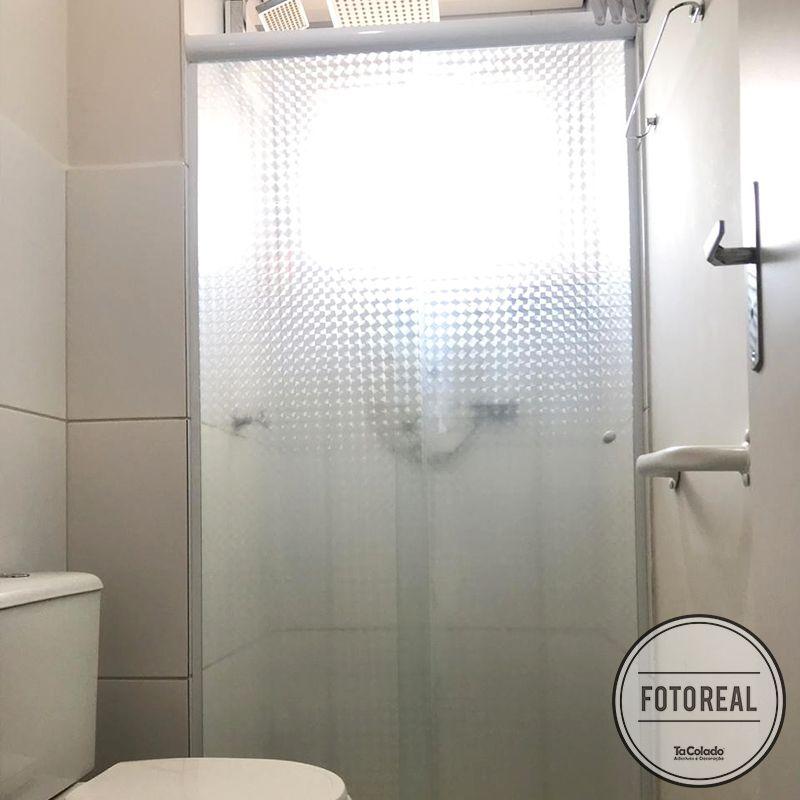 Adesivo Para Vidro Box Banheiro Jateado Dimension 1,22m  - TaColado
