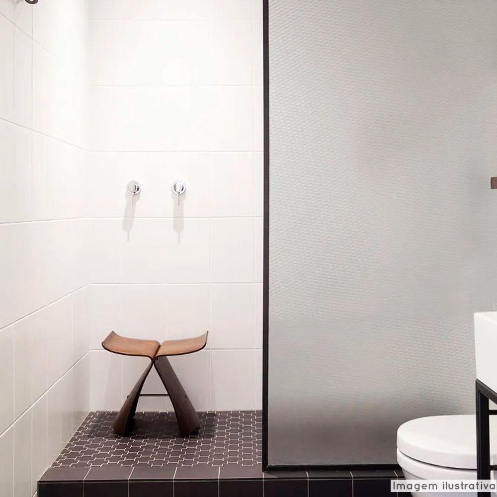 Adesivo Para Vidro Box Banheiro Jateado Sarja 1,22m Prova D