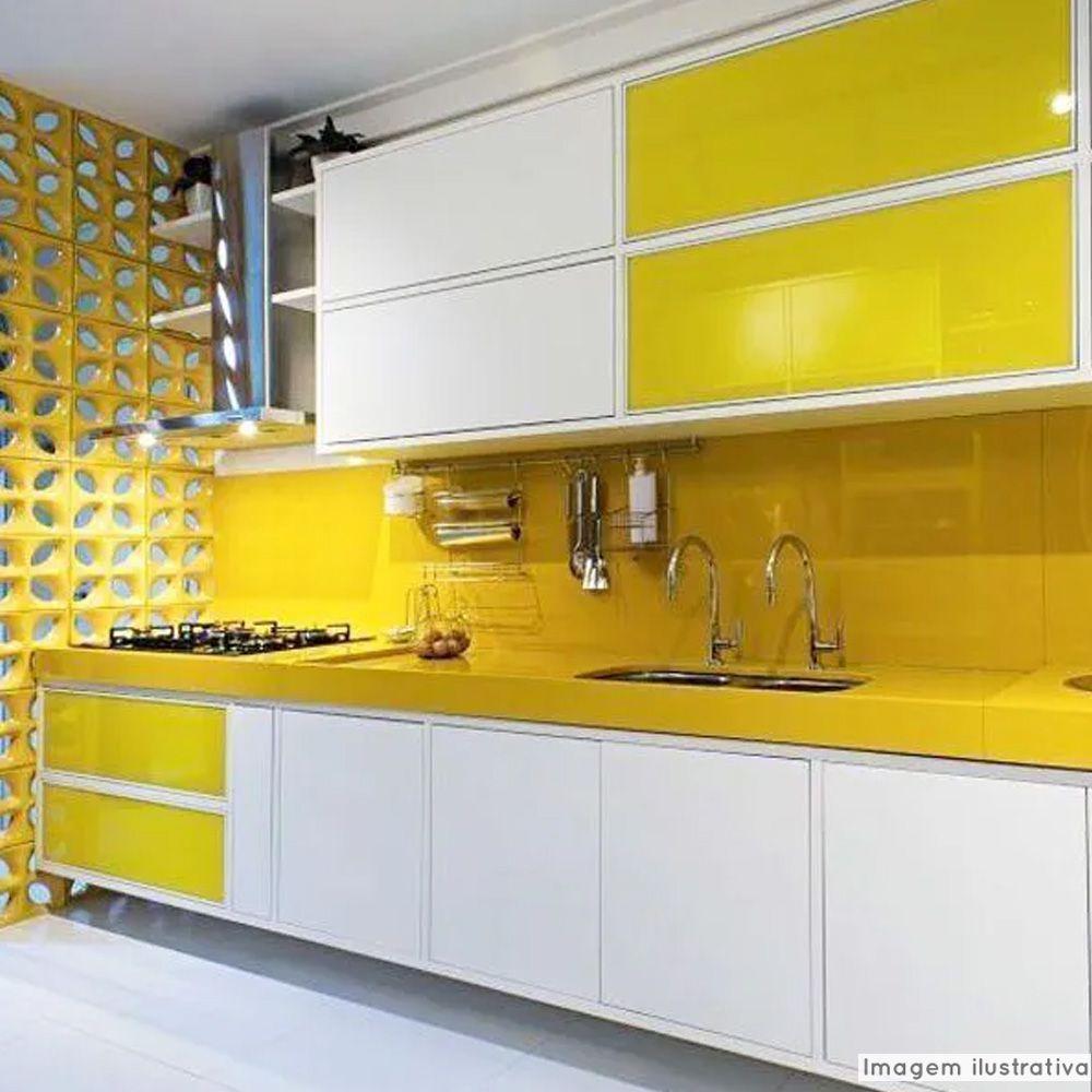 Adesivo para vidros Transparente Amarelo 0,53m  - TaColado