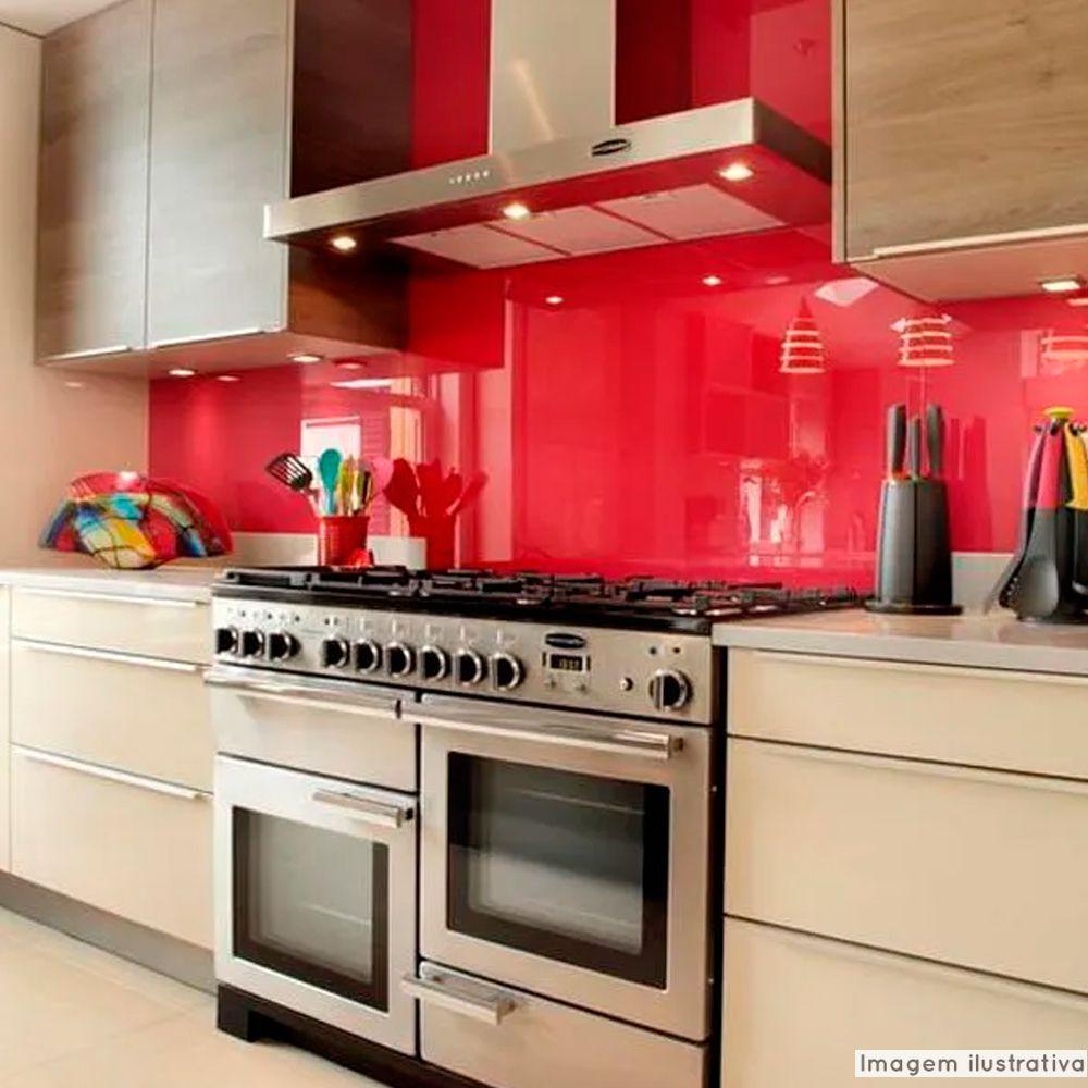 Adesivo para vidros Transparente Vermelho 0,53m  - TaColado