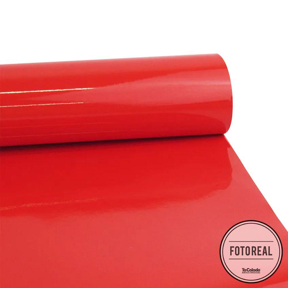 Adesivo para Vidros Transparente Vermelho 1,06m  - TaColado