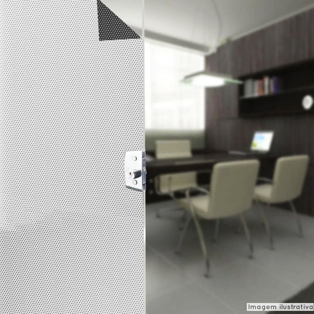 Adesivo Perfurado para Vidros 1,37m  - TaColado