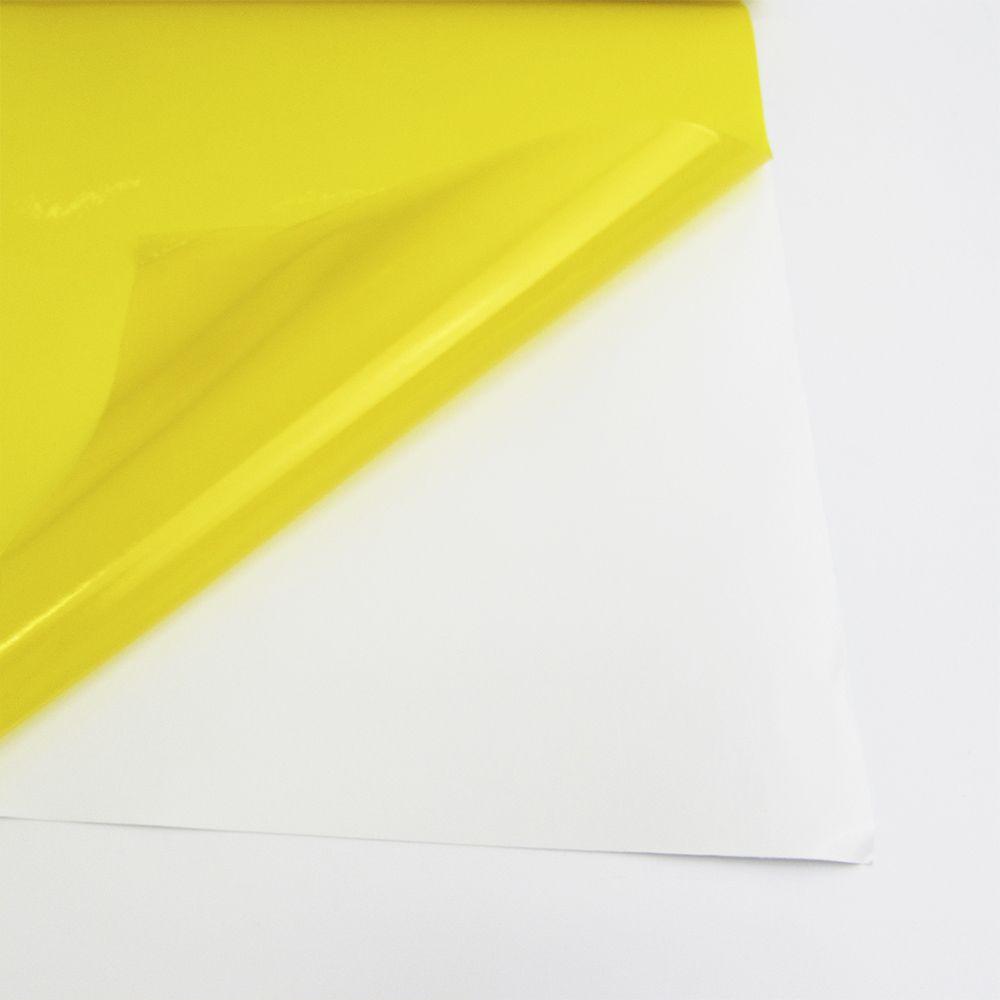 Adesivo para vidros Transparente Amarelo 1,06m  - TaColado