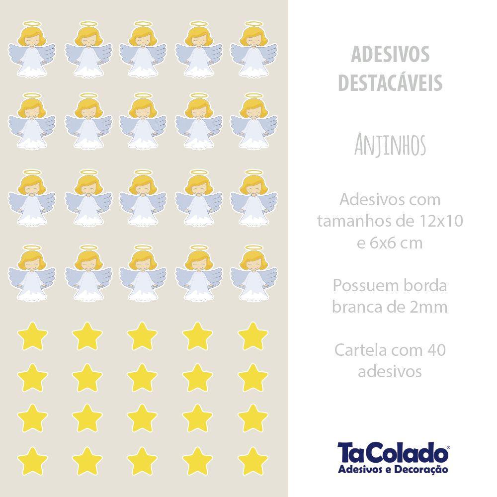 Black November - Adesivo Destacável Anjinhos  - TaColado