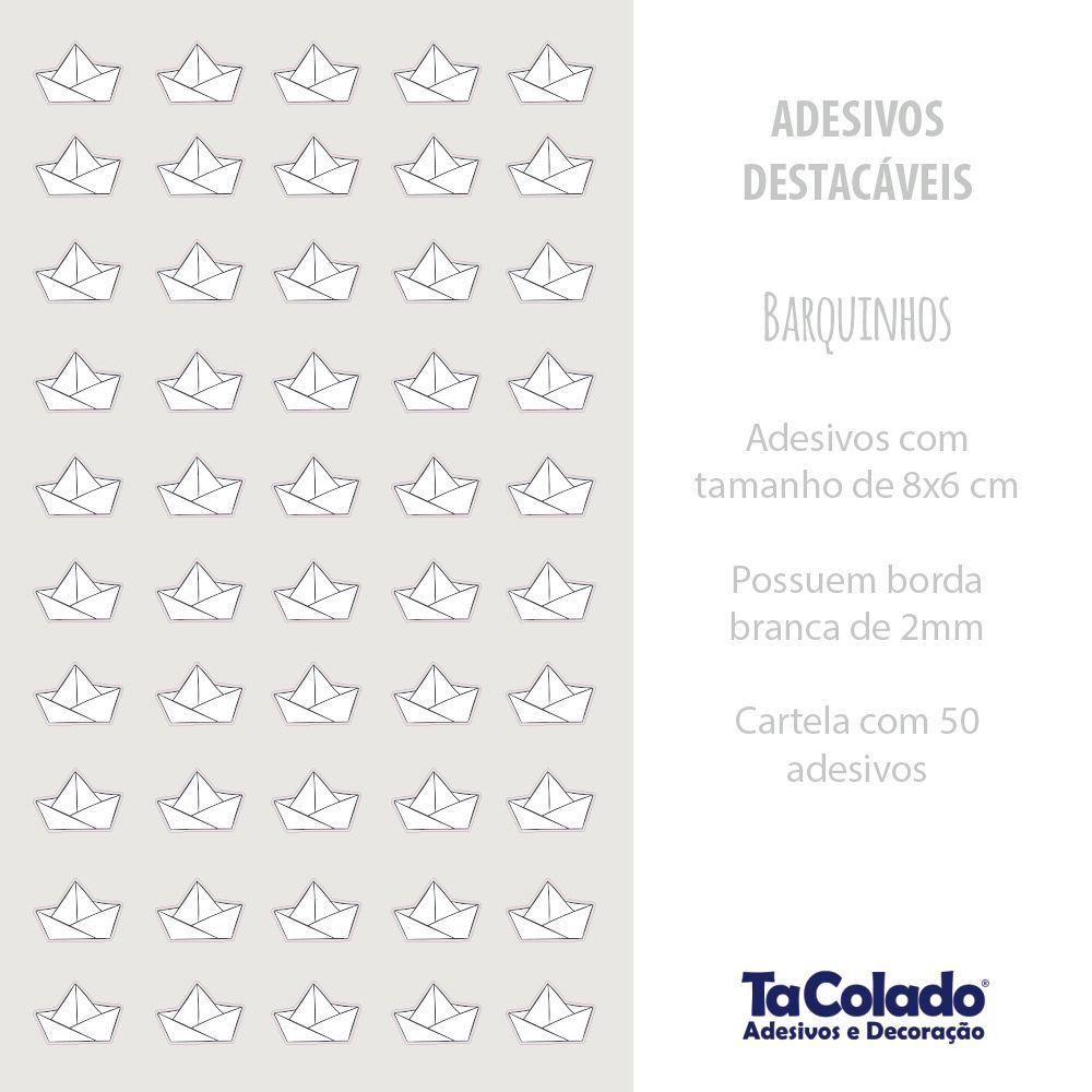 Black November - Adesivo Destacável Barquinhos de Papel Preto- Kit 2 unidades  - TaColado