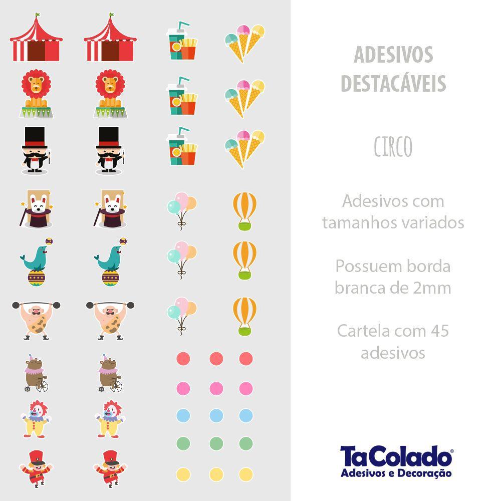 Black November - Adesivo Destacável Circo - Kit 2 unidades  - TaColado