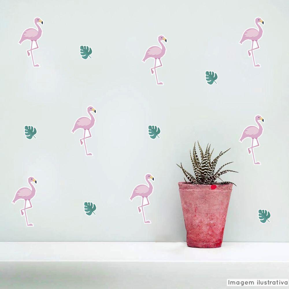 Promoção - Adesivo Destacável Flamingos  - TaColado