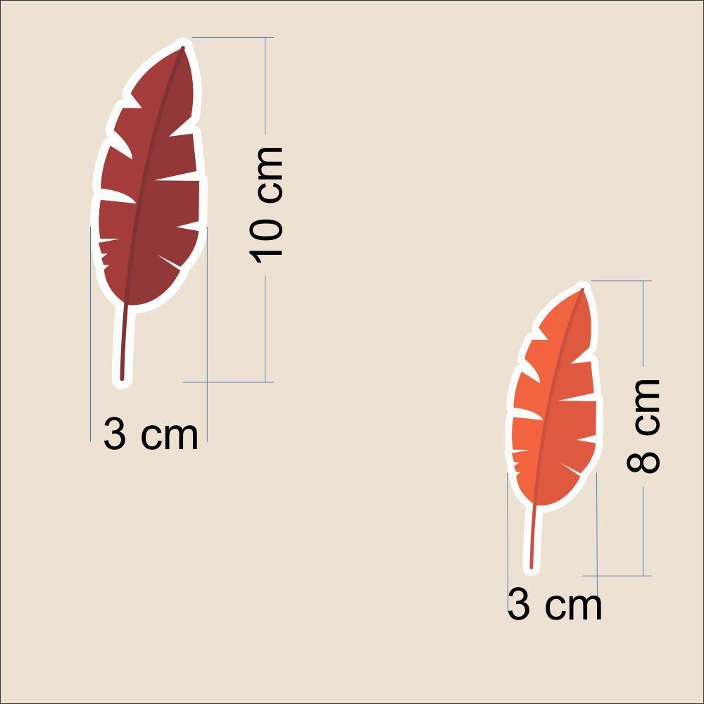 Promoção - Adesivo Destacável Folhas Vermelho  - TaColado