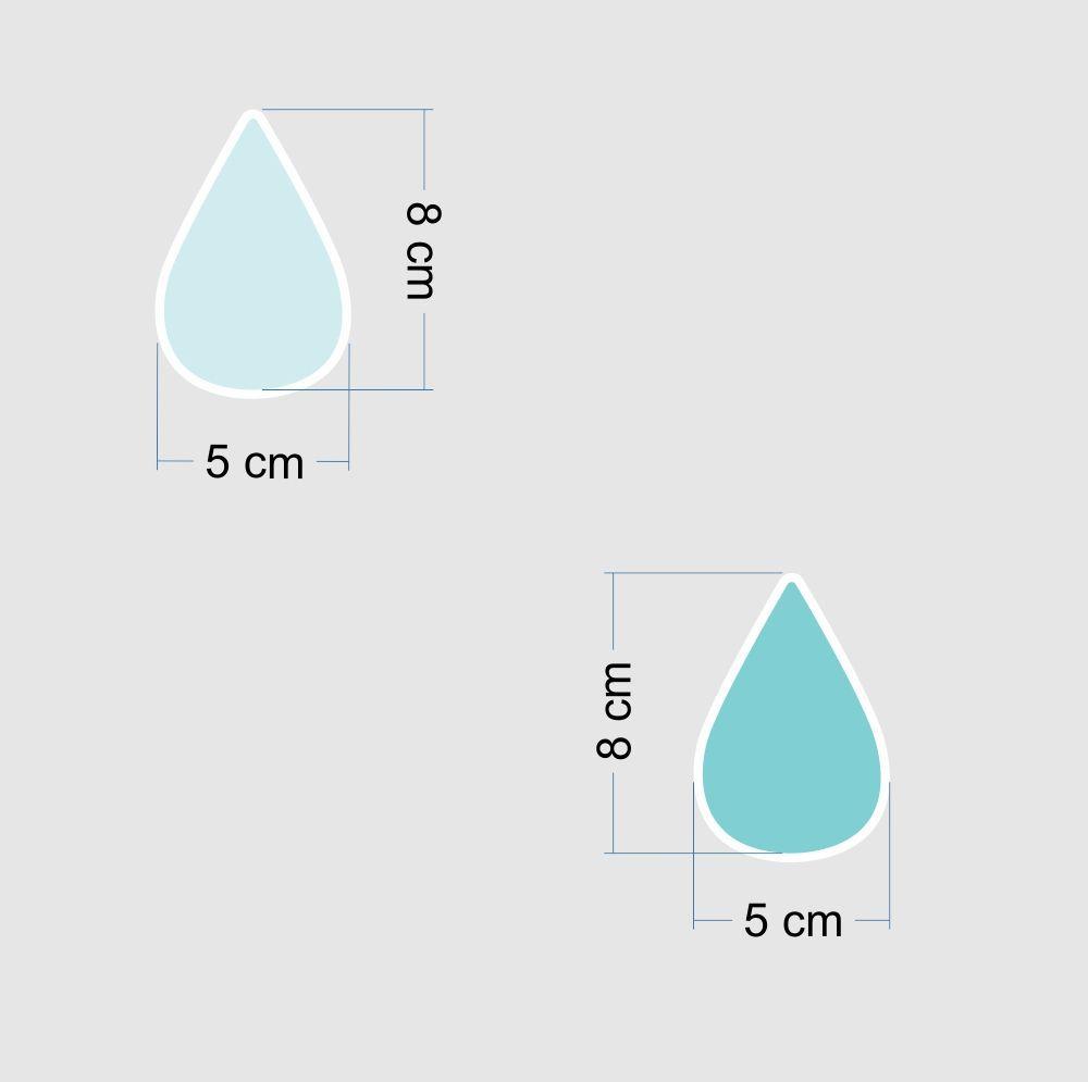 Promoção  - Adesivo Destacável Gotas Azul  - TaColado
