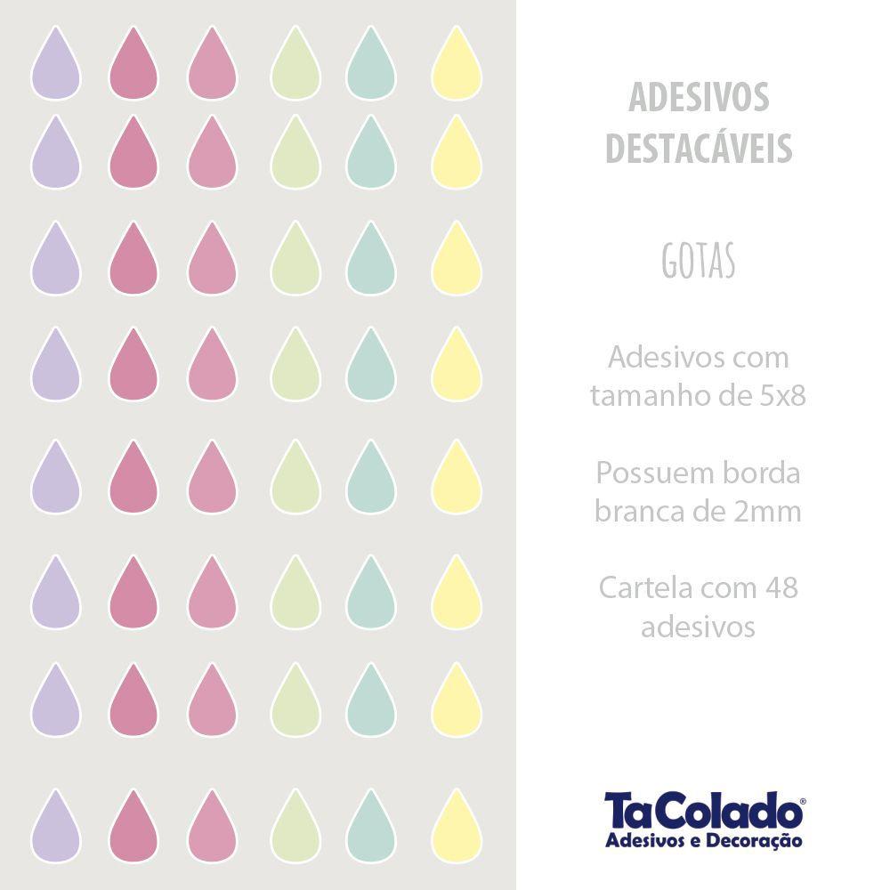 Black November - Adesivo Destacável Gotas Candy  - TaColado