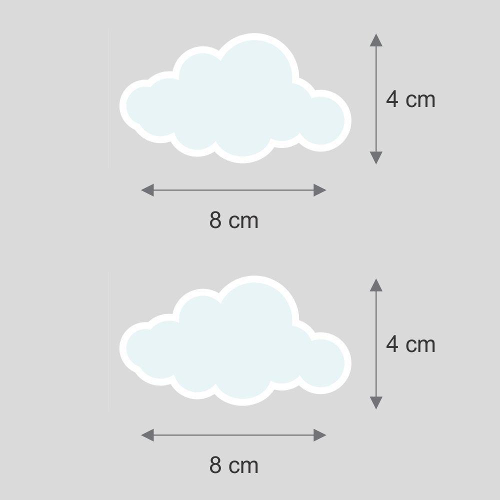 Promoção  - Adesivo Destacável Nuvens Azul  - TaColado