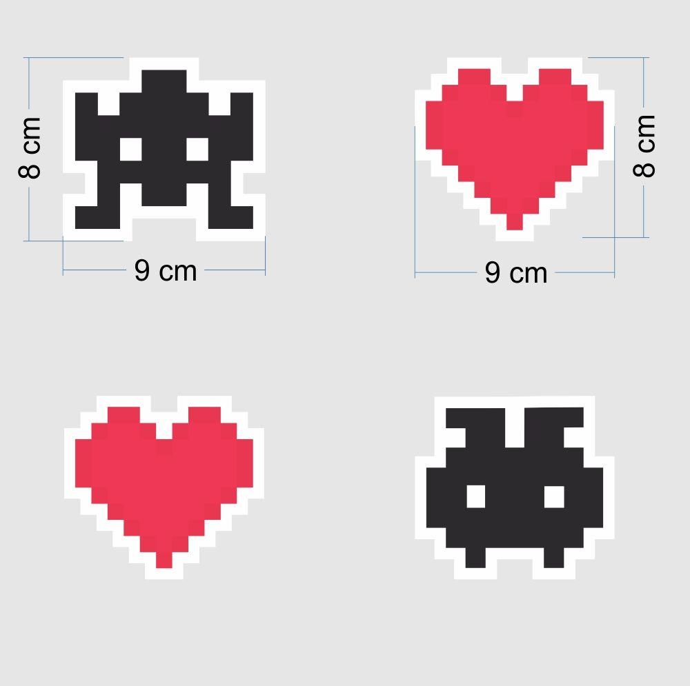 Black November - Adesivo Destacável Pixel  - TaColado