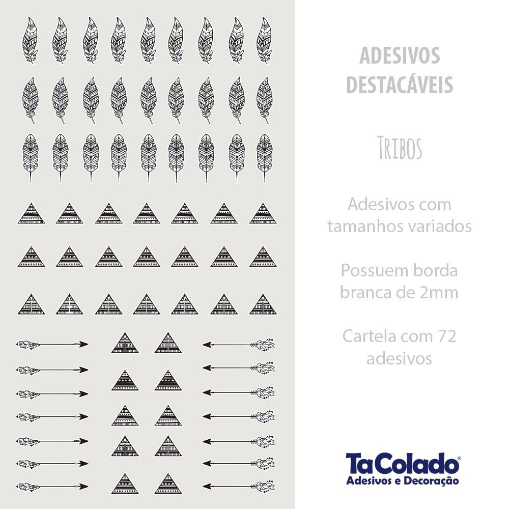 Black November - Adesivo Destacável Tribos  - TaColado