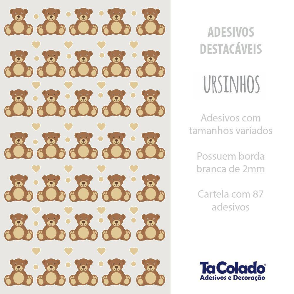 Promoção   - Adesivo Destacável Ursinhos  - TaColado