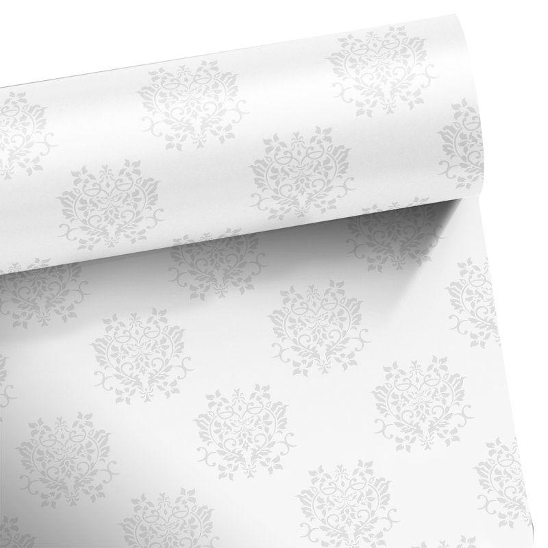 Promoção   - Papel de Parede Arabesco Dubai Branco  - TaColado
