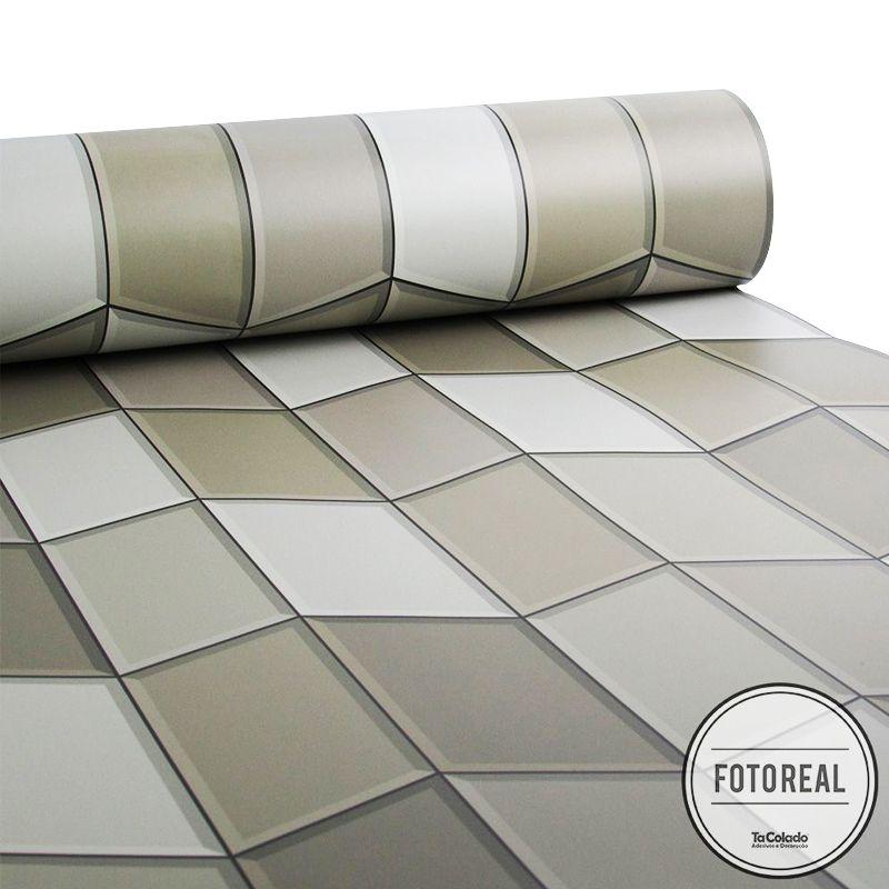 Black November - Papel de Parede Azulejo para Cozinha Tile Marrom   - TaColado