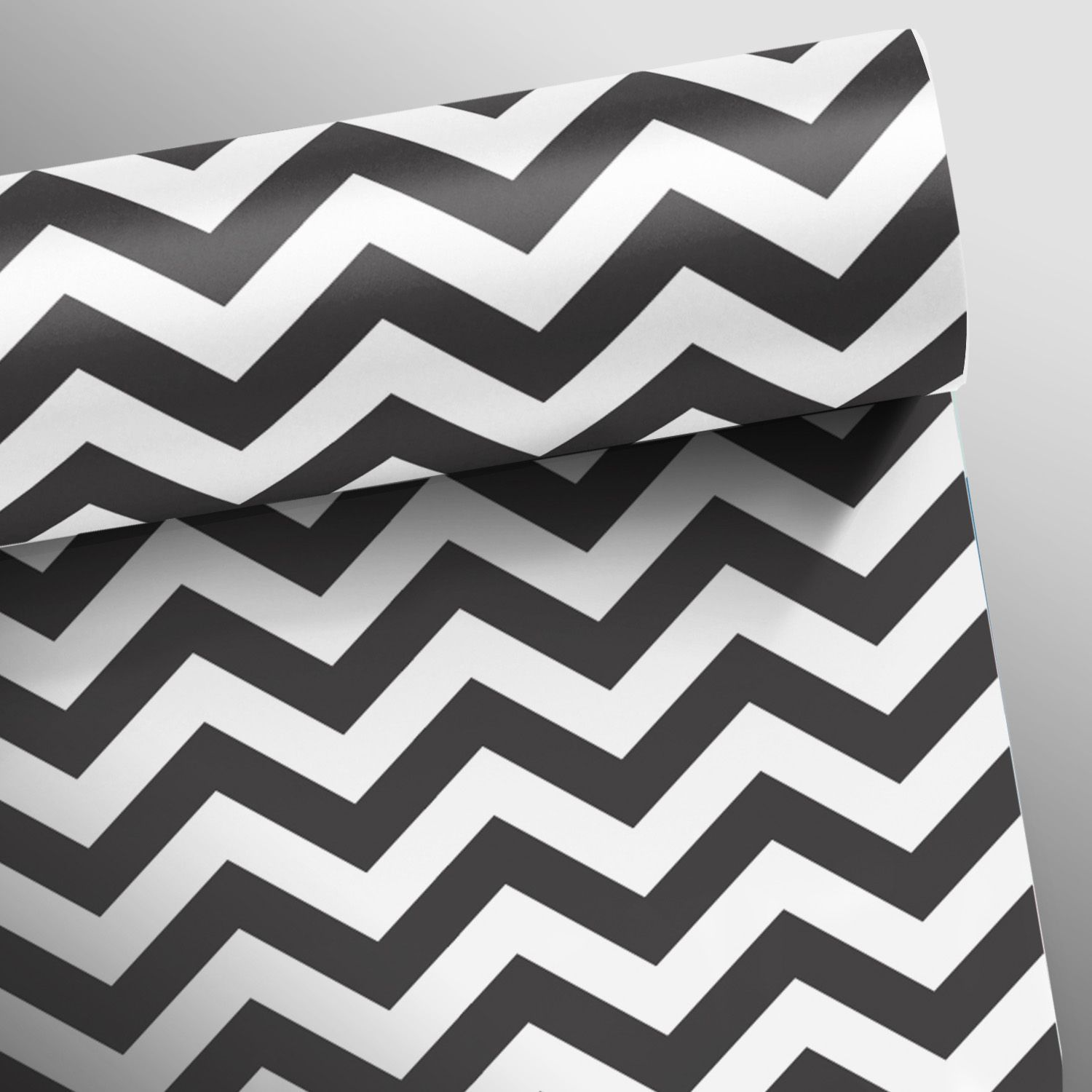 Black November  - Papel de Parede Chevron Classic Preto  - TaColado