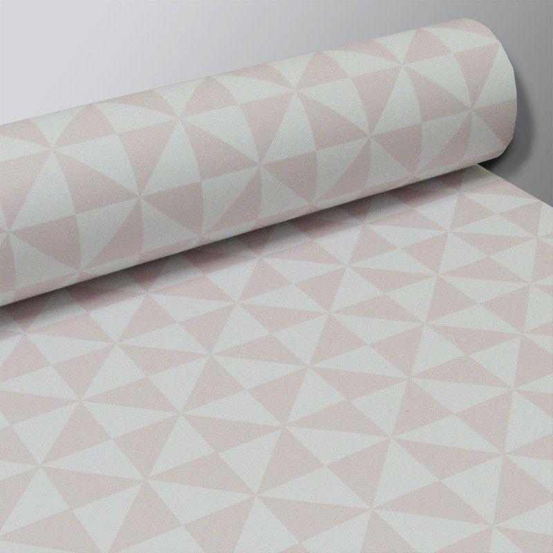 Promoção  - Papel de Parede Delta Soft Rosa Claro - Kit com 03 rolos  - TaColado
