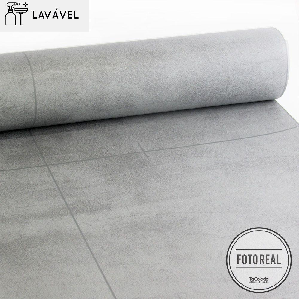 Black November - Papel de Parede Lavável para Banheiro Revestimento Concreto  - TaColado
