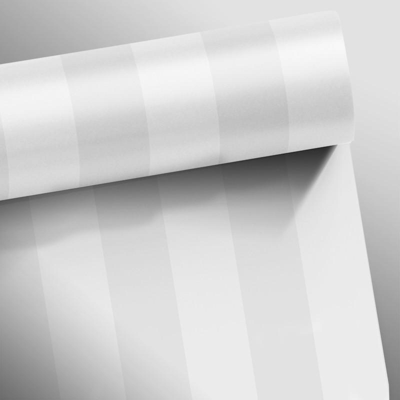 Black November  - Papel de Parede Listras Fortes Clear Cinza Claro - Kit com 02 rolos  - TaColado
