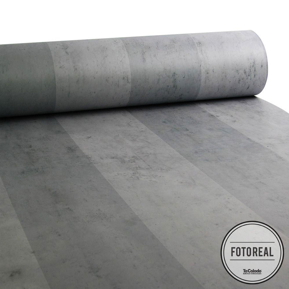 Promoção  - Papel de Parede Listras Modern Concreto - Kit com 02 rolos  - TaColado