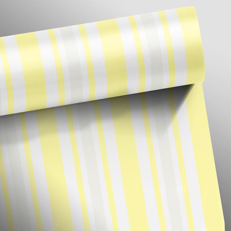 Promoção  - Papel de Parede Listras Rápidas Clear Amarelo  - TaColado