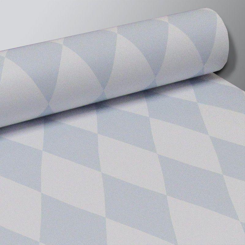 Promoção  - Papel de Parede Losango Soft Azul Claro  - TaColado