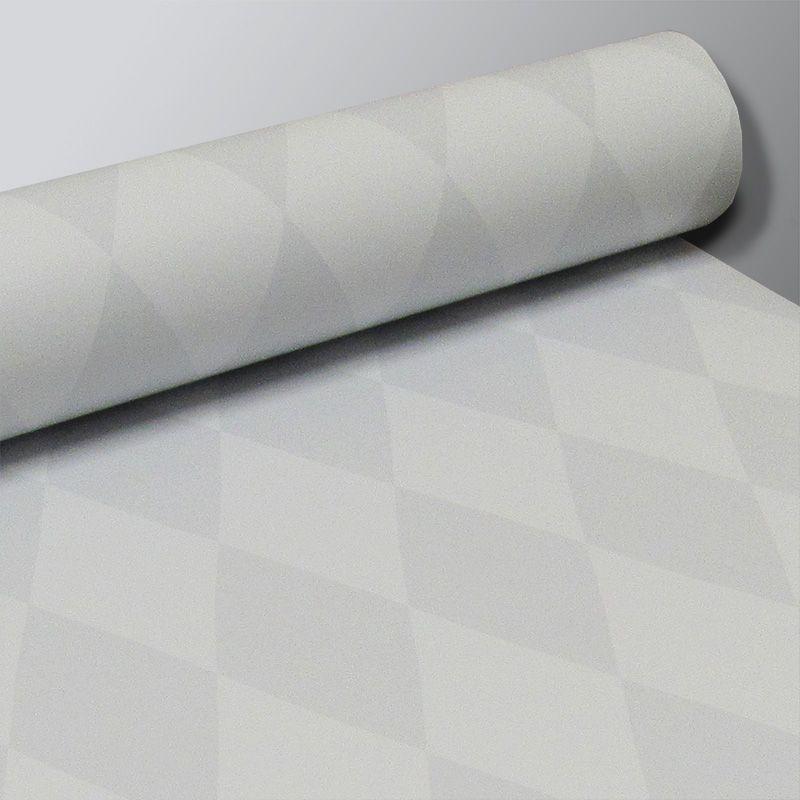 Promoção  - Papel de Parede Losango Soft Cinza - Kit com 03 rolos  - TaColado