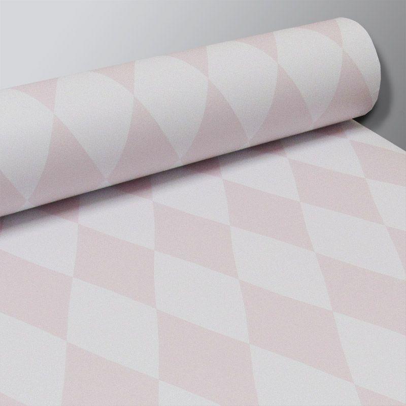 Promoção  - Papel de Parede Losango Soft Rosa Claro  - TaColado
