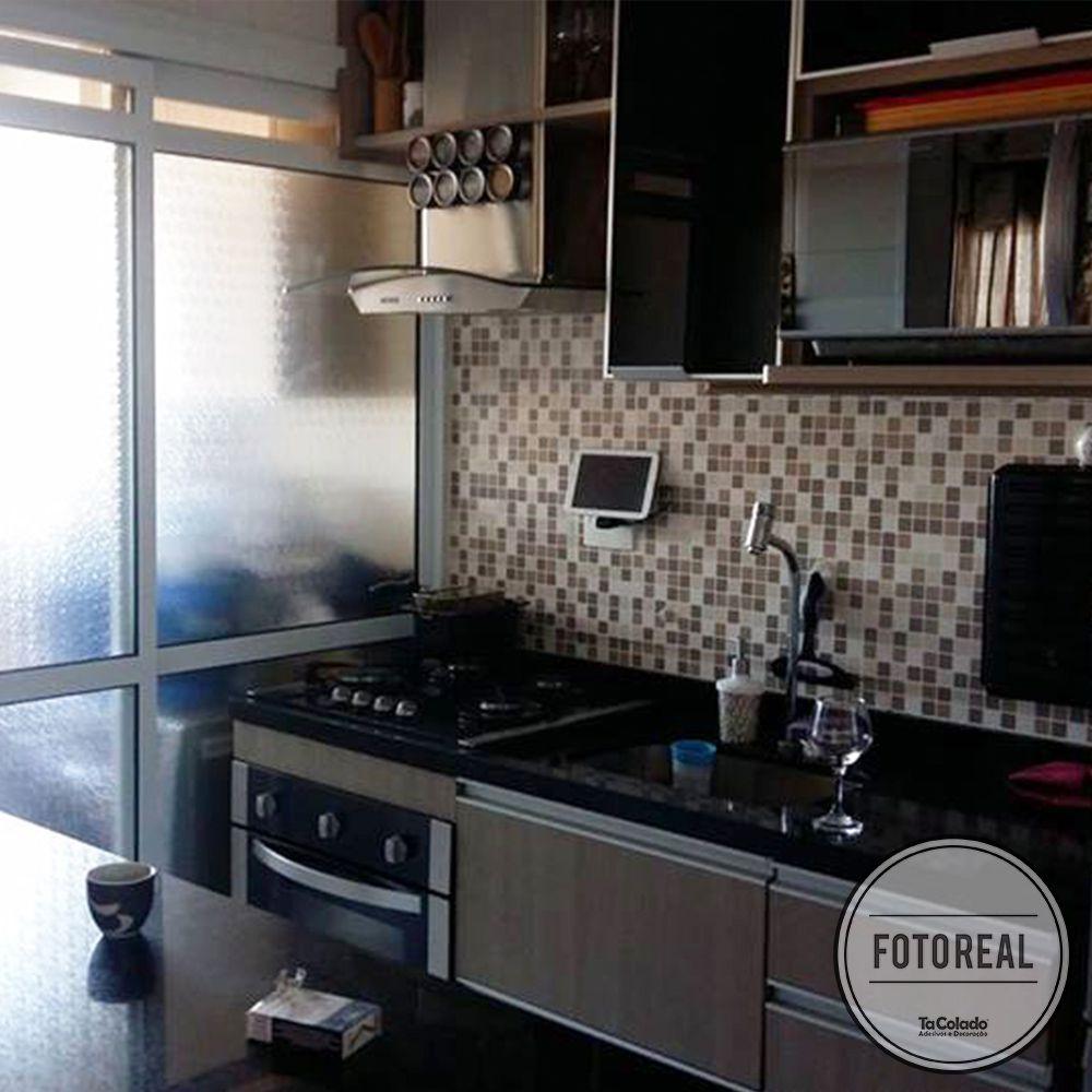 Promoção  - Papel de Parede Pastilha para Cozinha Clássica Mix Marrom  - TaColado