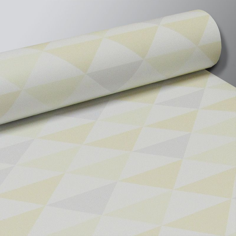 Promoção  - Papel de Parede Triângulo Clear Amarelo   - TaColado