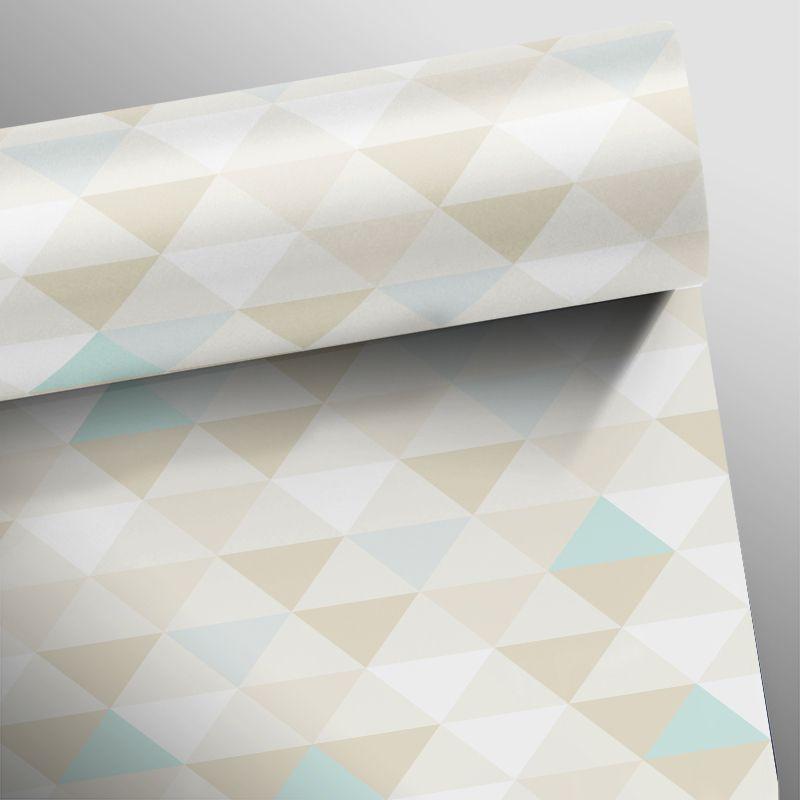 Promoção - Papel de Parede Triângulo Mix Marrom - Kit 02 rolos   - TaColado