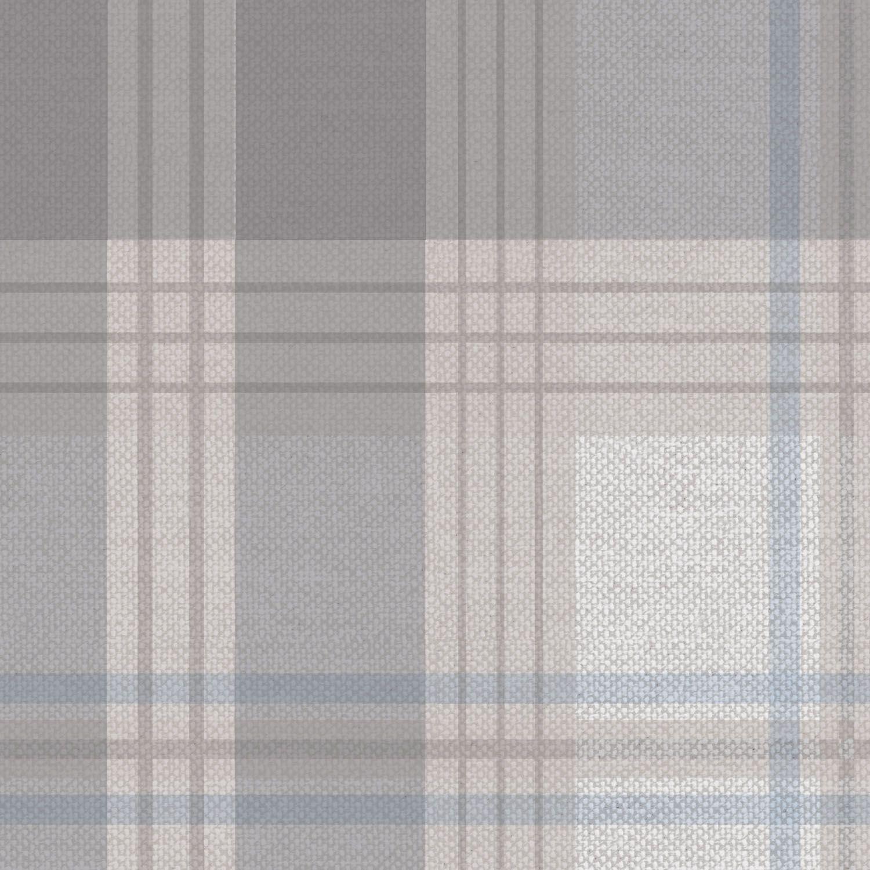 Promoção - Papel de Parede Xadrez Color Azul e Cinza  - TaColado