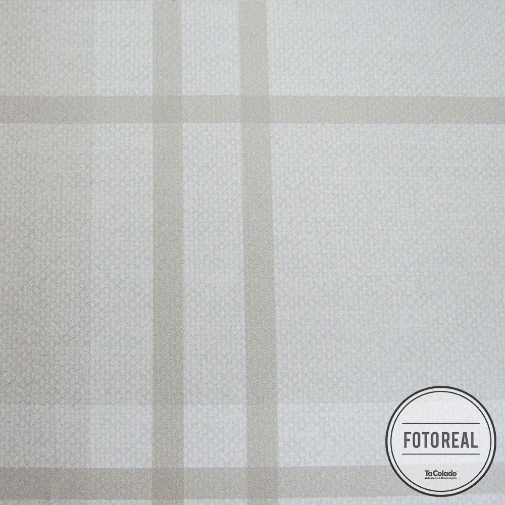 Black November - Papel de Parede Xadrez Soft Marrom  - TaColado