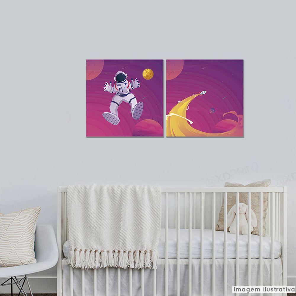 Conjunto 2 Telas Decorativas Astronauta  - TaColado