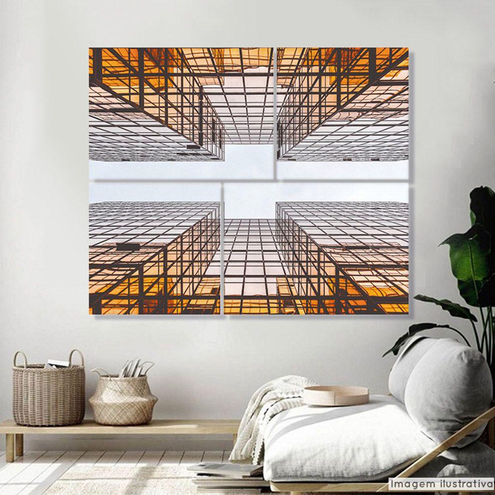Conjunto 4 Telas Decorativas Arquitetura  - TaColado