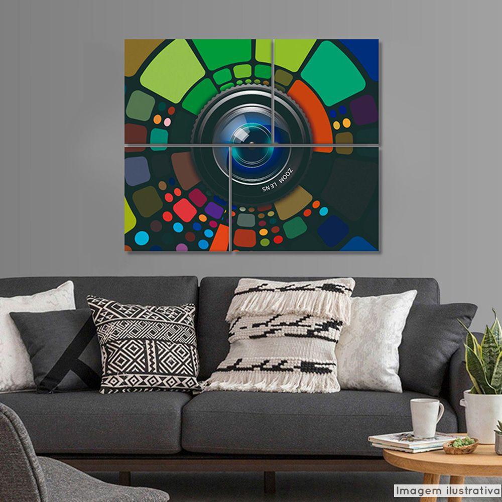 Conjunto 4 Telas Decorativas Zoom  - TaColado