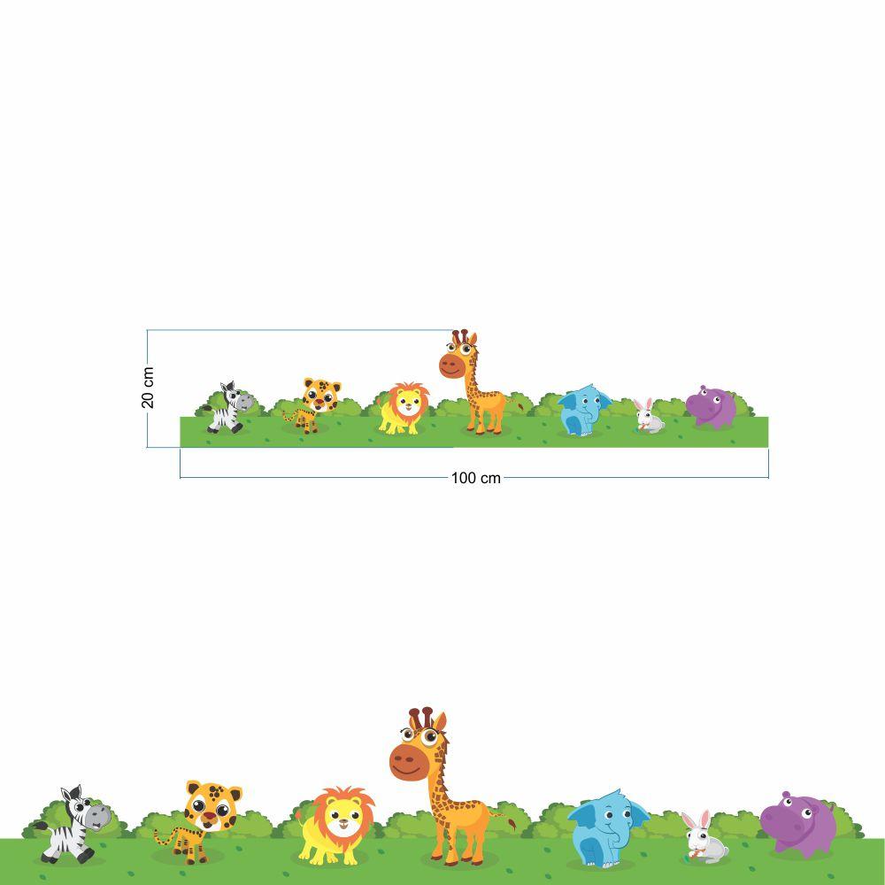 Faixa de Parede Animais  - TaColado
