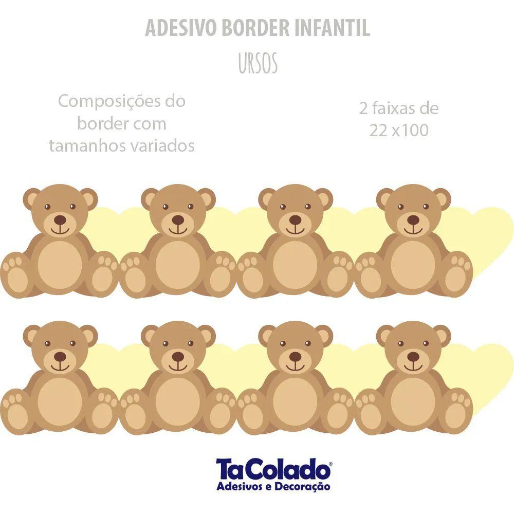 Faixa de Parede Ursos  - TaColado