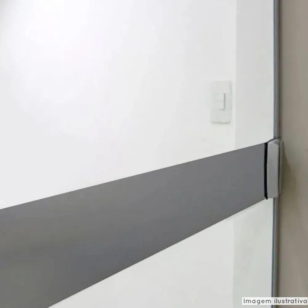 Faixa Jateada anti-impacto para vidros Fumê Escuro  - TaColado