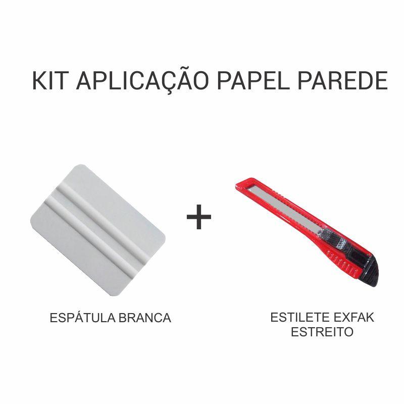 Kit de Aplicação de Papel de Parede - Espátula + Estilete Estreito    - TaColado