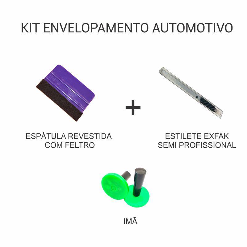 Kit de Envelopamento Automotivo - Espátula + Estilete Semi Profissional + Imã  - TaColado
