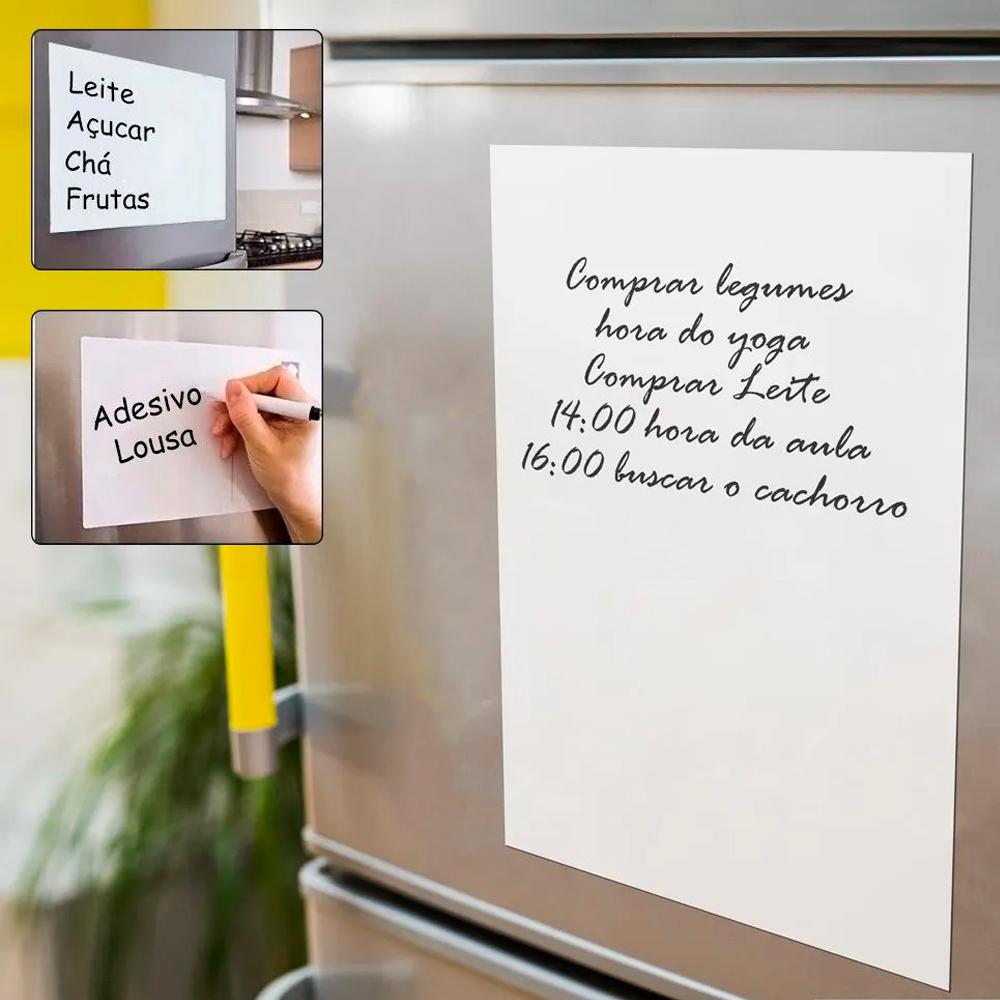 Lousa Magnética Branca para geladeira  - TaColado