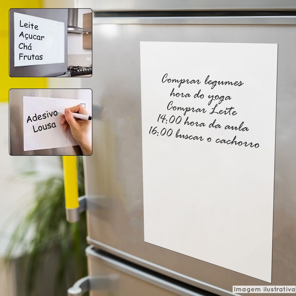 Lousa Magnética Branca para geladeira + Caneta Brinde  - TaColado