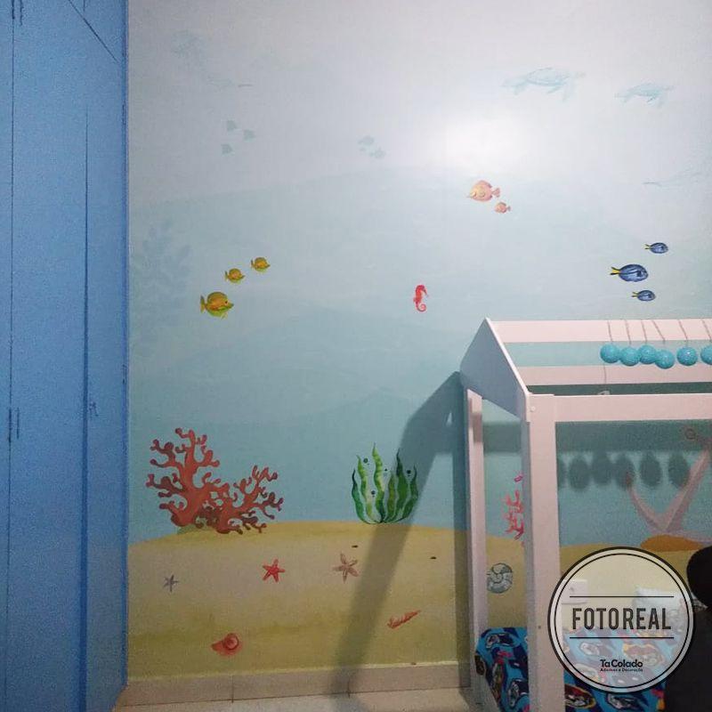 Mural Fundo do Mar  - TaColado
