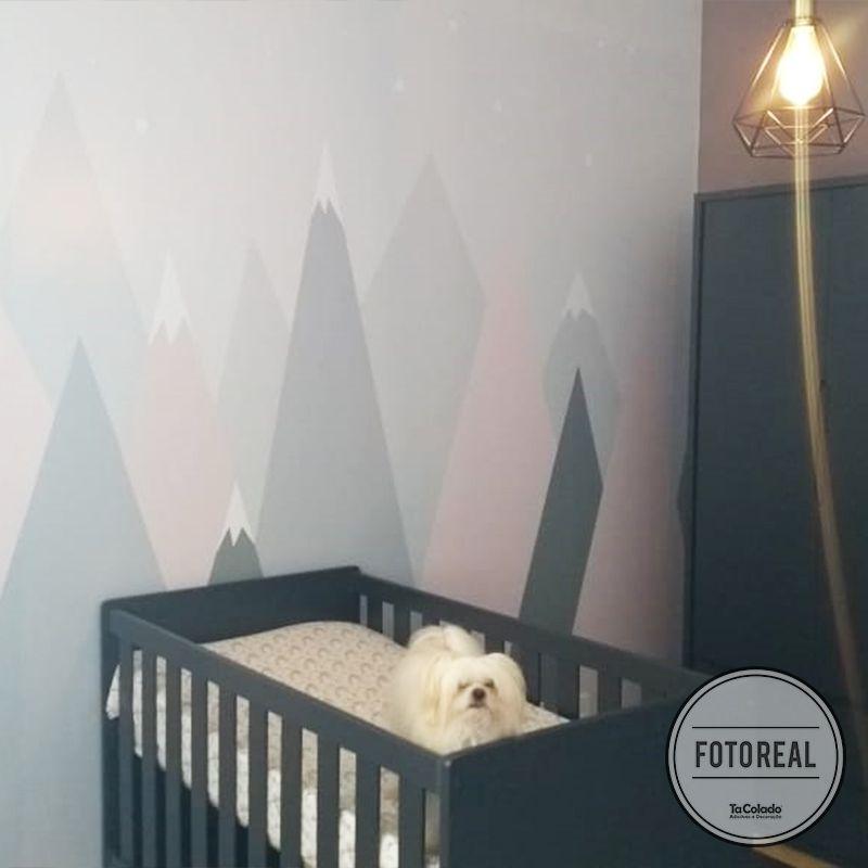 Queima de Estoque - Mural Montanha Rosa 3,48 x 3,00m  - TaColado
