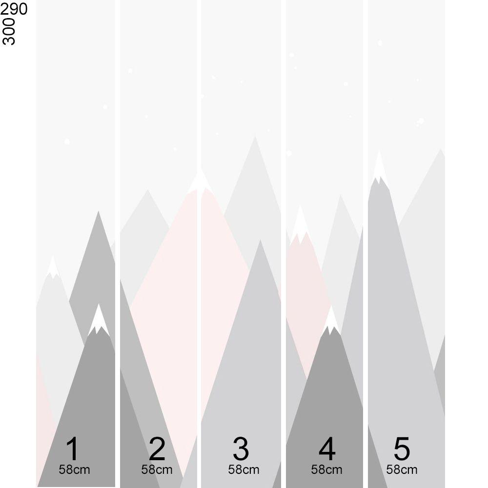 Promoção - Mural Montanha Rosa 3,48 x 3,00m  - TaColado