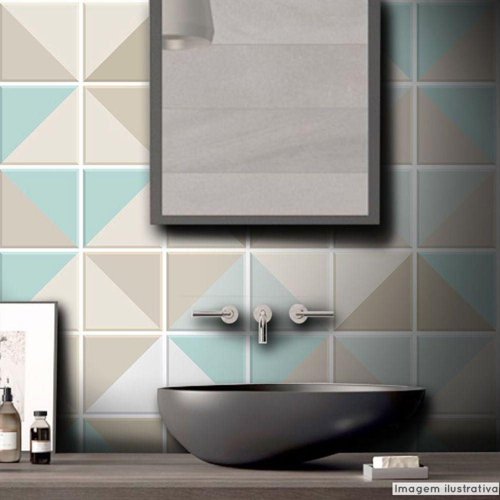 Outlet- Papel de Parede Azulejo para Cozinha Triângulo Atacama 0,58x2,00m  - TaColado