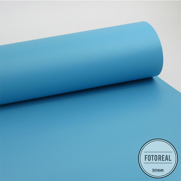 Outlet - Adesivo para Móveis Jateado Azul Claro 0,61x0,80m  - TaColado